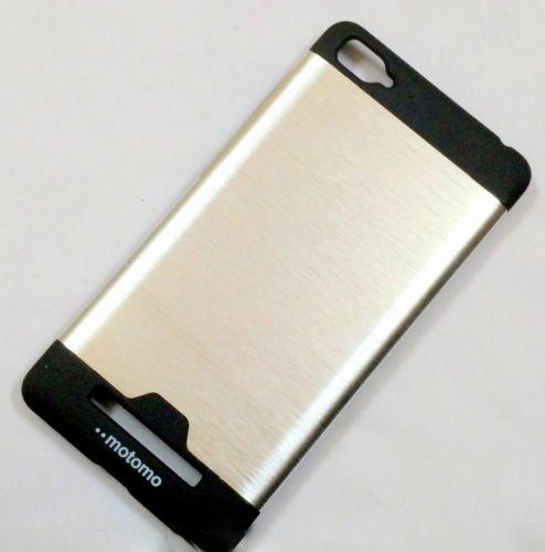 Tarkan Motomo Aluminium Brushed Bumper Back Case Cover for Xiaomi Mi4i (Silver)