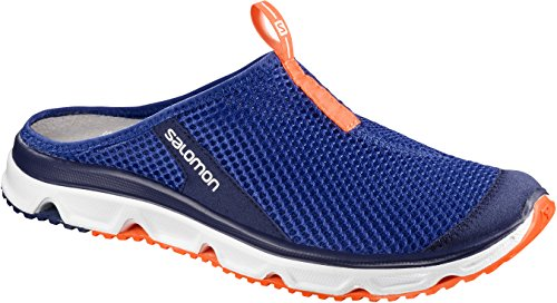 Salomon RX Slide 3.0, Zapatillas de Senderismo para Hombre, Azul (Surf The Web/White/Shocking Orange 000), 45 1/3 EU