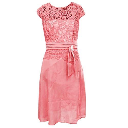 Zottom Frauen Kleider, Sommer Sexy Floral Formal Lace Vintage Kurzarm Slim Brautkleid❦Freizeitkleider -