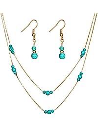 37af953e675e Momangel AliExpress Europa y los Estados Unidos forman un conjunto de joyas  retro con piedras preciosas
