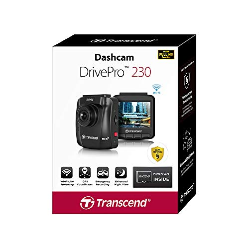 Transcend DrivePro 230Q Data Privacy Dashcam TS-DP230Q-32G (Sonderedition für den Deutschen Markt)
