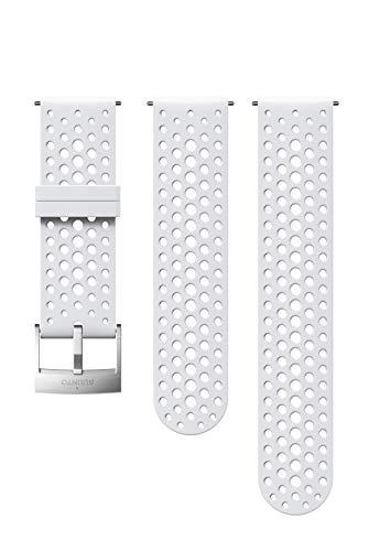 SUUNTO Uhrenarmband Zubehör, Unisex-Erwachsene Herren, 24mm Silicone, White Steel- Athletic, 24mm ; S+M (120-230 mm) -