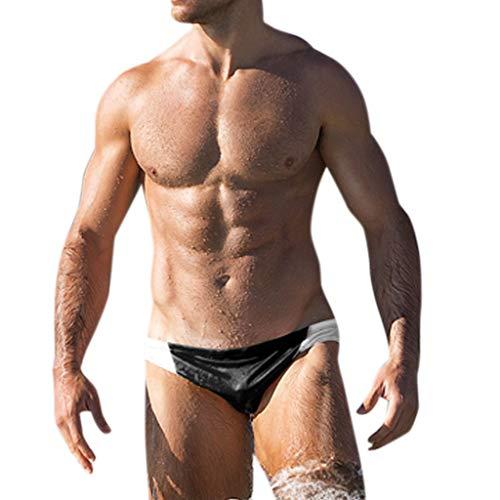 Herren Strandhose, gestreift, modisch, atmungsaktiv, Sportunterhose, Laufen, Sexy Schwimmen, Lkoezi Bademode