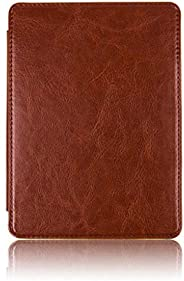 Tenonev Slim Leather Cover Case for Amazon Kindle Paperwhite 4 2018 with Sleep/Wake (Coffee)