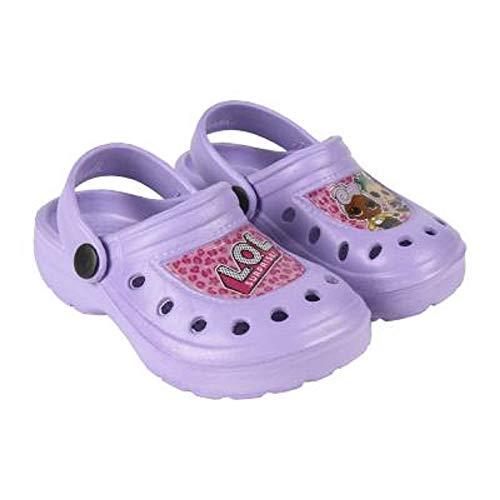 �dchenschuhe Für Den Sommer Mit LOL Puppen Diva, Fancy, Rocker | Kinder Sandalen, Crocs, Für Strand, Schwimmbad, Feiertage | Schuhe Für Mädchen (32/33 EU, Crocs/Lila) ()