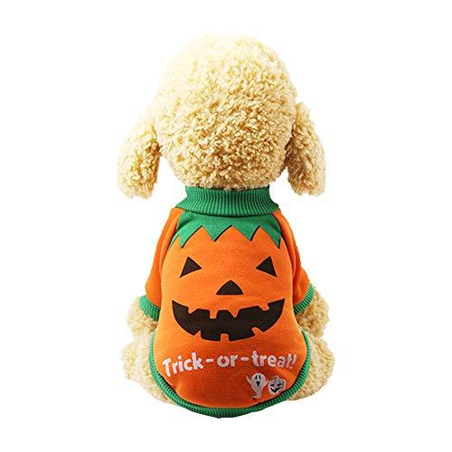 Souarts Haustier Kleidung Baumwolle der Halloween Kürbis Katzen Hundepullover Cosplay Einhorn Hund Kostüm Mantel (Einhorn Kostüm Für Katzen)