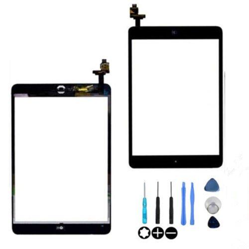 Hedywei écran Tactile numériseur de Rechange pour iPad Mini avec IC/Outils et Adhésif Noir