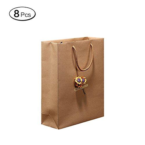 me Papier Geschenk Beutel mit Griffen Aufbewahrung Verpackung Tasche für Craft Travel 28*6*30cm/11*2.3*11.8Inch (Papier-geschenk-taschen Mit Griffen)
