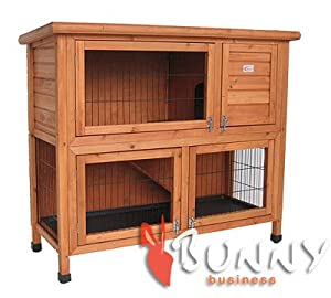 Bunny Business Double Decker Rabbit/ Guinea Pig Hutch