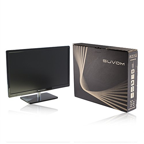 SUVOM 23 Inch LCD Monitor filter filled HD 1920x1080 2ms HDMI VGA tremendous vision using loudspeaker Monitors
