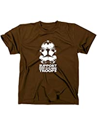 Apoyo a nuestras tropas Star Wars Stormtrooper casco camiseta, Helm, color marrón, tamaño xx-large