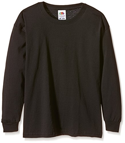 Fruit of the Loom Mädchen T-Shirt Schwarz (Black)
