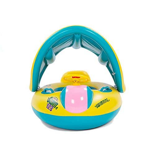 Soulitem Neue Sicherheit Baby-Säuglingsschwimmen -Schwimmer Inflatable Verstellbare Sonnenschutz Sitz Boot Ring Swim Pool - Boot Neues