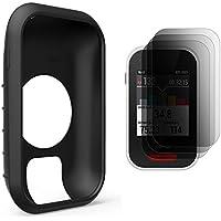TUSITA Funda protectora para Polar V650, Funda de piel de silicona con protector de pantalla para Polar GPS Bike Computer (NEGRO)