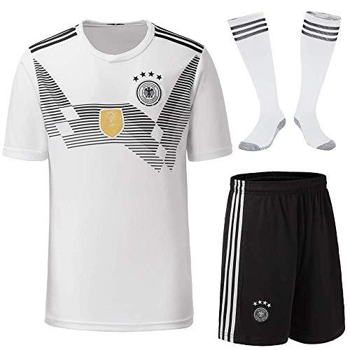 STC Deutsche Fußballmannschaft Trikot Erwachsene Version des Trikots 2018 WM Deutschland 4 Sterne Fußball T-Shirt, Europacup Wettkampf Trikot + Socken -
