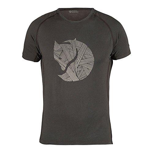 Fjällräven Herren Abisko Trail Print T-Shirt, Dark Grey, L - Hoch Tencel Großen T-shirt