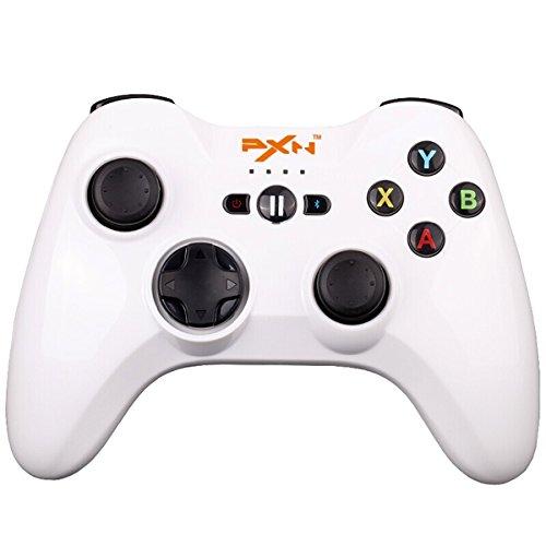 PXN-6603 IOS Zertifizierte Speedy Bluetooth Gamepad Drahtlos Gamepad Gaming Controller Joystick mit Phone Halter für iOS 7.0+ Gerät(Weiß)