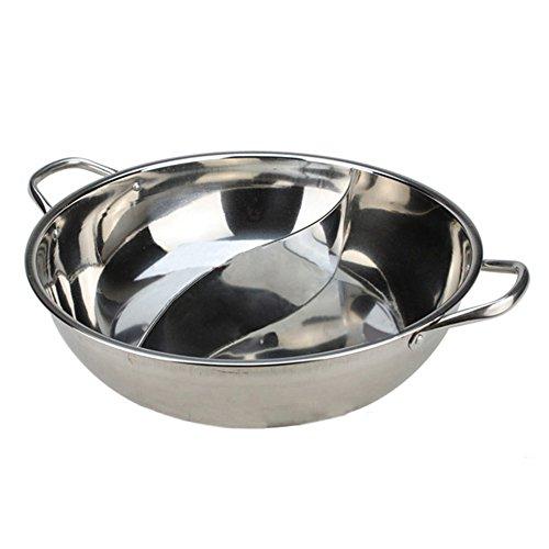 Küche Kochen Koch Werkzeug Ausrüstung Rostfreier Stahl Edelstahl Feuertopf Suppe Topf Duck Hotpot Pot Induktionskochfeld Verwendbar 36cm (Koch-ausrüstung)