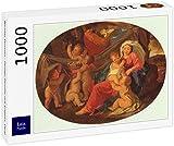 Lais Puzzle Nicolas Poussin - Sacra Famiglia con Angeli, Ovale 1000 Pezzi