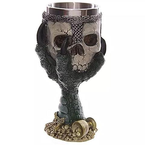 CNMKLM Gothic Halloween Totenkopf Wein Wodka Becher , grün (Grün Wodka)