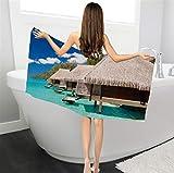 LSSFC Asciugamano da Piscina in Microfibra Seascape Asciugamano Sportivo da Piscina 70x150 Tappetino da Yoga Grande
