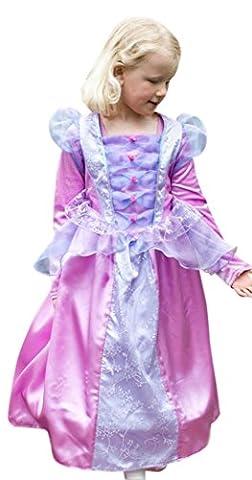 erdbeerloft - Mädchen Karneval Komplett Kostüm Florentiner Prinzessin , Rosa, Größe 98-110, 3-5 (Fairies Von Dornröschen Kostüme)