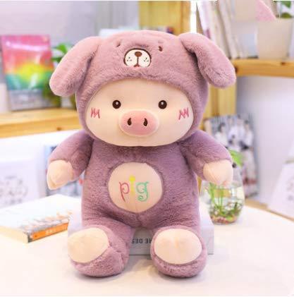Süße Schwein Jahr Maskottchen Puppe Ferkelpuppe Puppe Plüschtier Schwein Super Süße Lila - Plüschtier Qualität Kostüm