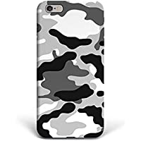 For iPhone 6 plus + iPhone 6s plus + Phone Back Case Hard Cover Custom Personalised Trendy Style Christmas Gift Present Modern Design Protective Plastic UK Brand Appfix Army colors white and black Games