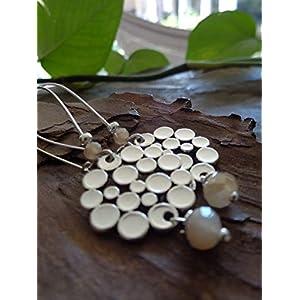 ✿ KRISTALL & BUBBLES SEIFENBLASEN SCHEIBE KIDNEY HAKEN ✿ lange Haken Ohrringe und Bubble Glas Perlen