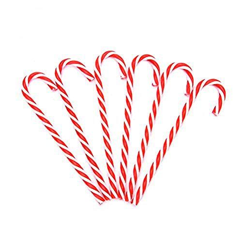 ckerstange Ornaments Candy Cane Decor Set Kunststoff Zuckerstange Zum Aufhängen Ornamente für Weihnachten Party tressenteile House Dekoration-Pack of 12 ()