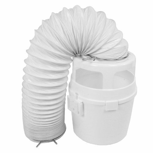 first4spares-4ft-vent-hose-condenser-bucket-wall-mount-kit-for-hoover-tumble-dryers-white