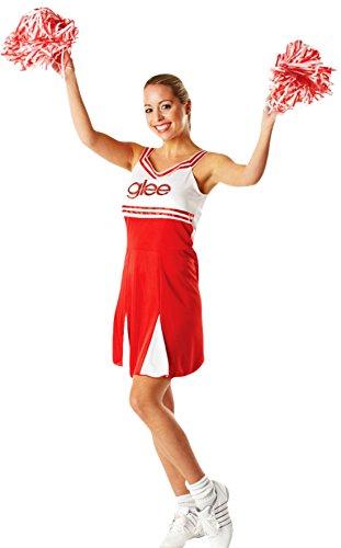 """erdbeerloft - Damen Cheerleader-""""Glee""""-Kostüm, 3-teilig, rot weiss, 38-40 M"""