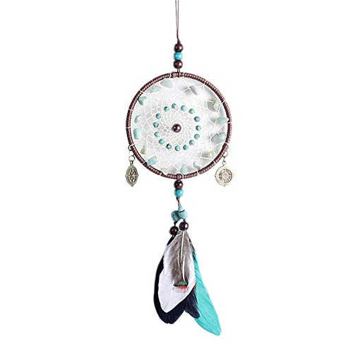 HSINCERELY Atrapasueños con Pluma Hecho a Mano Naturales Dream Catcher Colgante Decoración de Pared Auto, Adorno Regalo del Arte Colorear 11 * 40cm