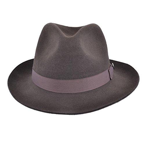 gladwin-bond-qualita-realizzato-a-mano-fedora-trilby-cappello-con-banda-abbinata-100-lana-brown-s-55