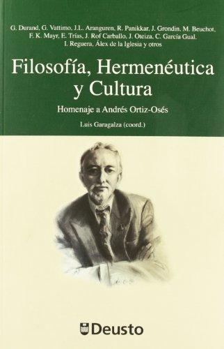 Portada del libro Filosofía, Hermenéutica y Cultura: Homenaje a Andrés Ortiz-Osés (Homenajes)