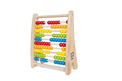 Hape HAP-E0412 Rainbow Bead Abacus - Multicoloured
