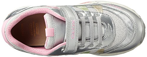 Geox Mädchen J Shuttle Girl A Low-Top Silber (silver/multicolorc1239)