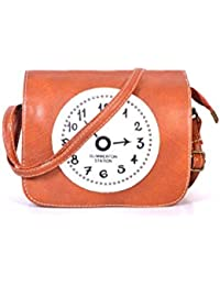 Fashionable Orange Fine PU Leatherette Sling Bag For Women & Girls By Bagris GE01001272