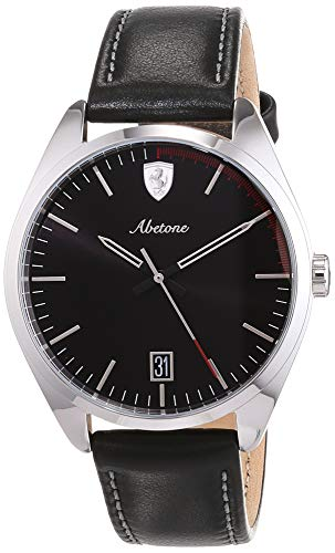 Scuderia Ferrari Unisex Analog Quarz Uhr mit Leder Armband 830501