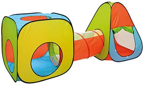LittleTom Bällebad Spielzelt Set 260x90x100cm Popup Spielhaus Kinder Zelt Tunnel