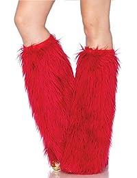 Leg Avenue Furry Réchauffeurs de Jambe Rouge Taille Unique