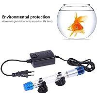 FOONEE Esterilizador de Luz UV, 7W / 11W Lámpara Sumergible de Matanza de Algas Impermeable de Luz UV para Tanque de Peces de Acuario