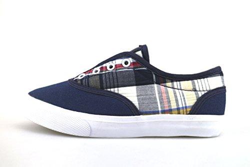 ENRICO COVERI sneakers bambino blu tessuto AG236 (32 EU)