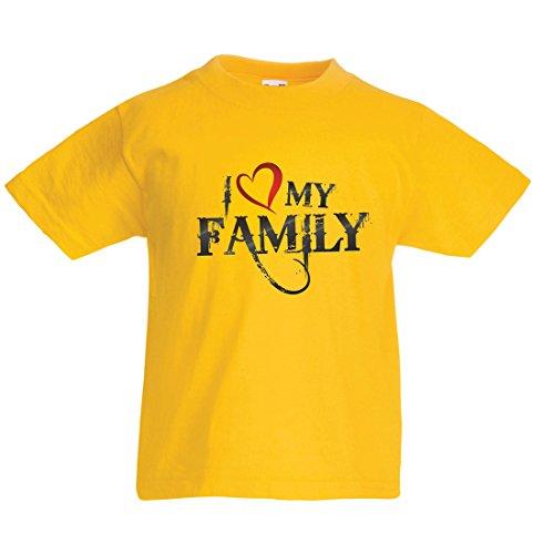 gartige Designer Hemden Zeigen Ihre Liebe - fantastisches zusammenpassendes Kleid der Familie (3-4 Years Gelb Mehrfarben) ()