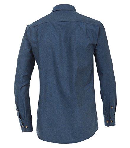 Casa Moda - Comfort Fit - Herren Langarm Flanell-Hemd mit Kent-Kragen (462533100 A) Blau (100)