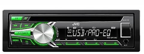 JVC KD-R453 USB/CD-Receiver mit Front AUX-Eingang schwarz