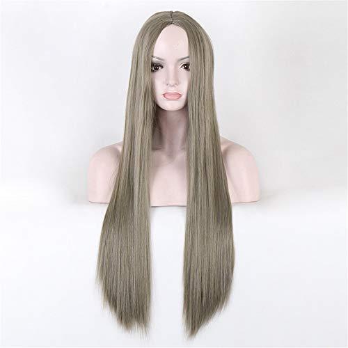 GUOJUANJUANJF Perücke weibliche Perücke Großhandel gefärbt lang Hochglanz Seidenbraun glattes Haar
