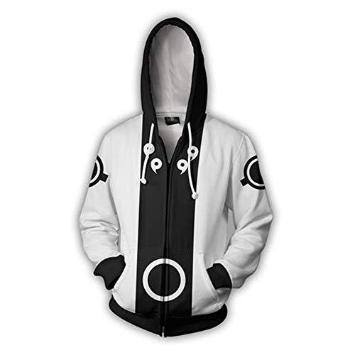 tshirt Unisex Pullover Kapuzenjacke Kleidung Mantel Reißverschluss Naruto Uchiha Madara XXXL ()