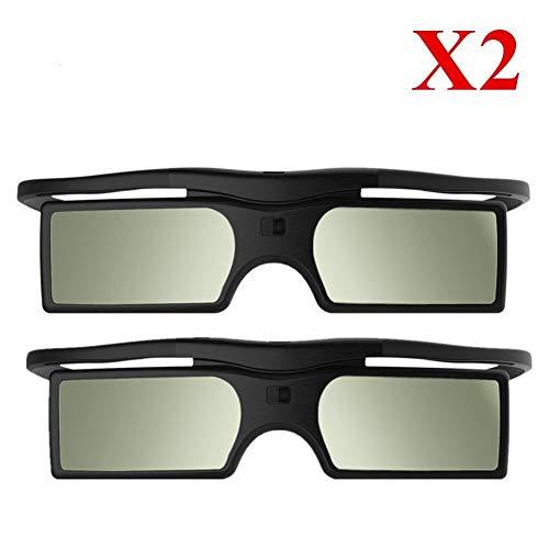 You will think of me Gafas 3D activas de reemplazo 2X SSG-5100GB TDG-BT500a / 400 para KD-55X8505C TV 3D y proyector (Color : Black)
