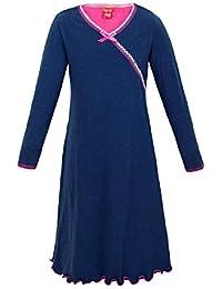 La-V pijama bata para chica de manga larga, rosa